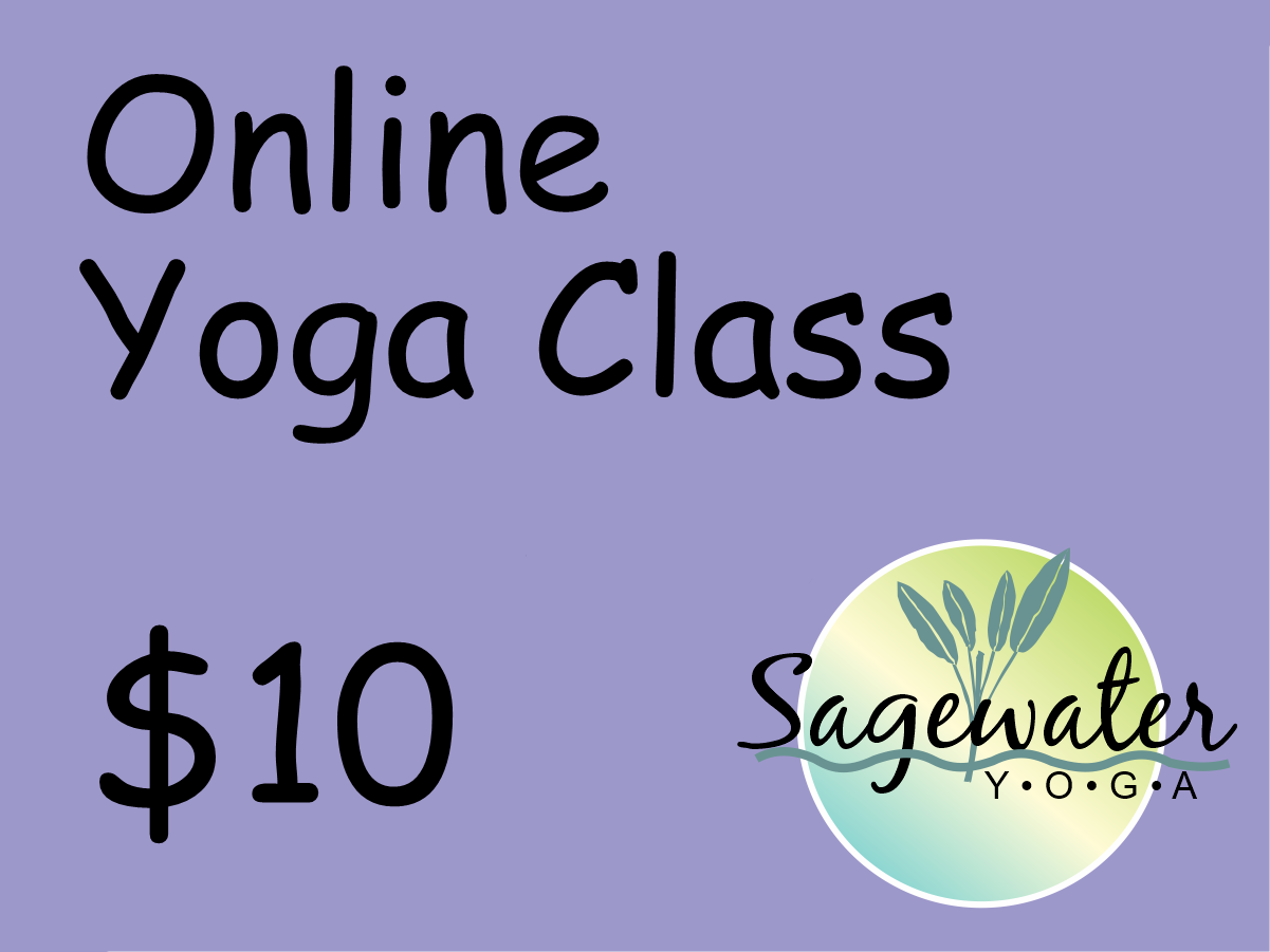 Sagewater online yoga class donation
